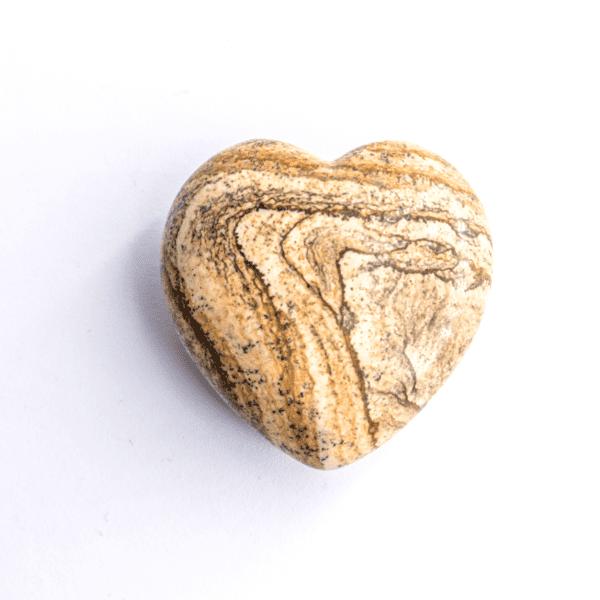 Milujeme Kameny - jaspis krajinný tromlovaný kámen - srdce