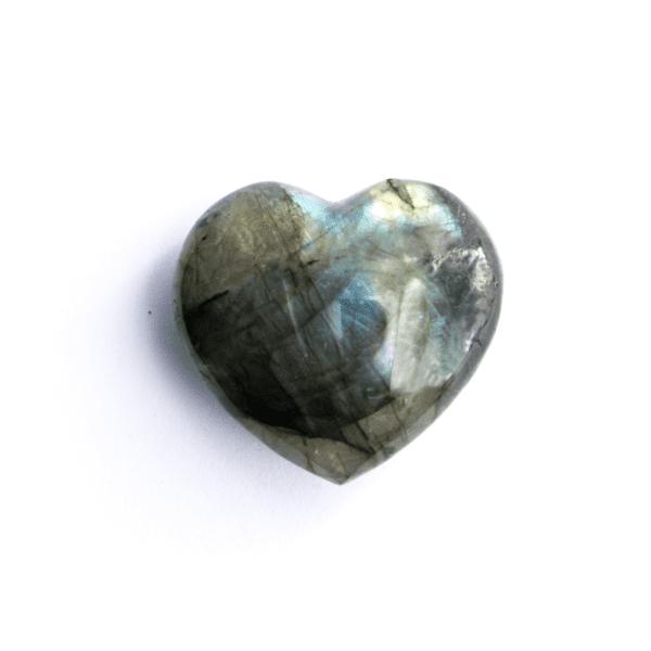 Milujeme Kameny - labradorit tromlovaný kámen - srdce