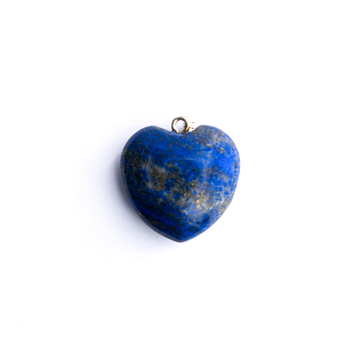 Milujeme Kameny - lapis lazuli tromlovaný kámen - srdce přívěsek