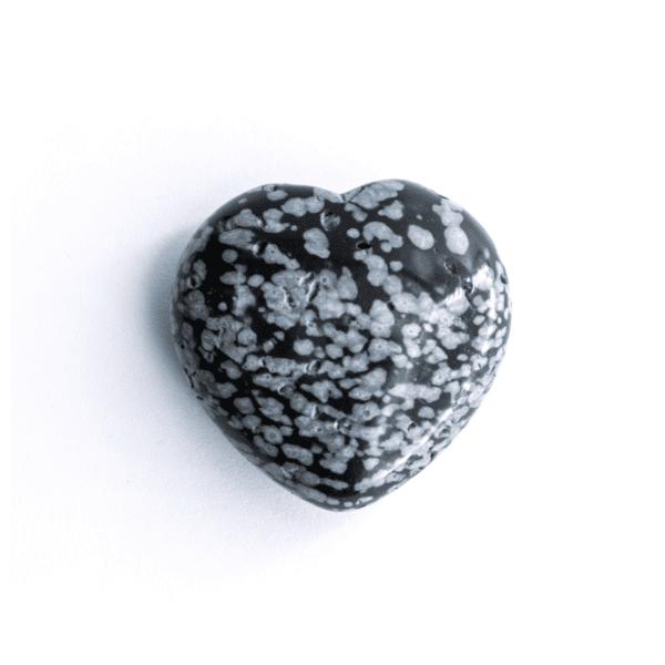 Milujeme Kameny - obsidián vločkový tromlovaný kámen - srdce