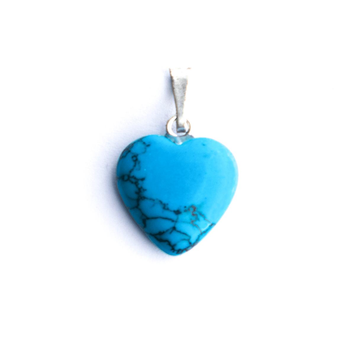 Milujeme Kameny - tyrkenit tromlovaný kámen - přívěsek srdce