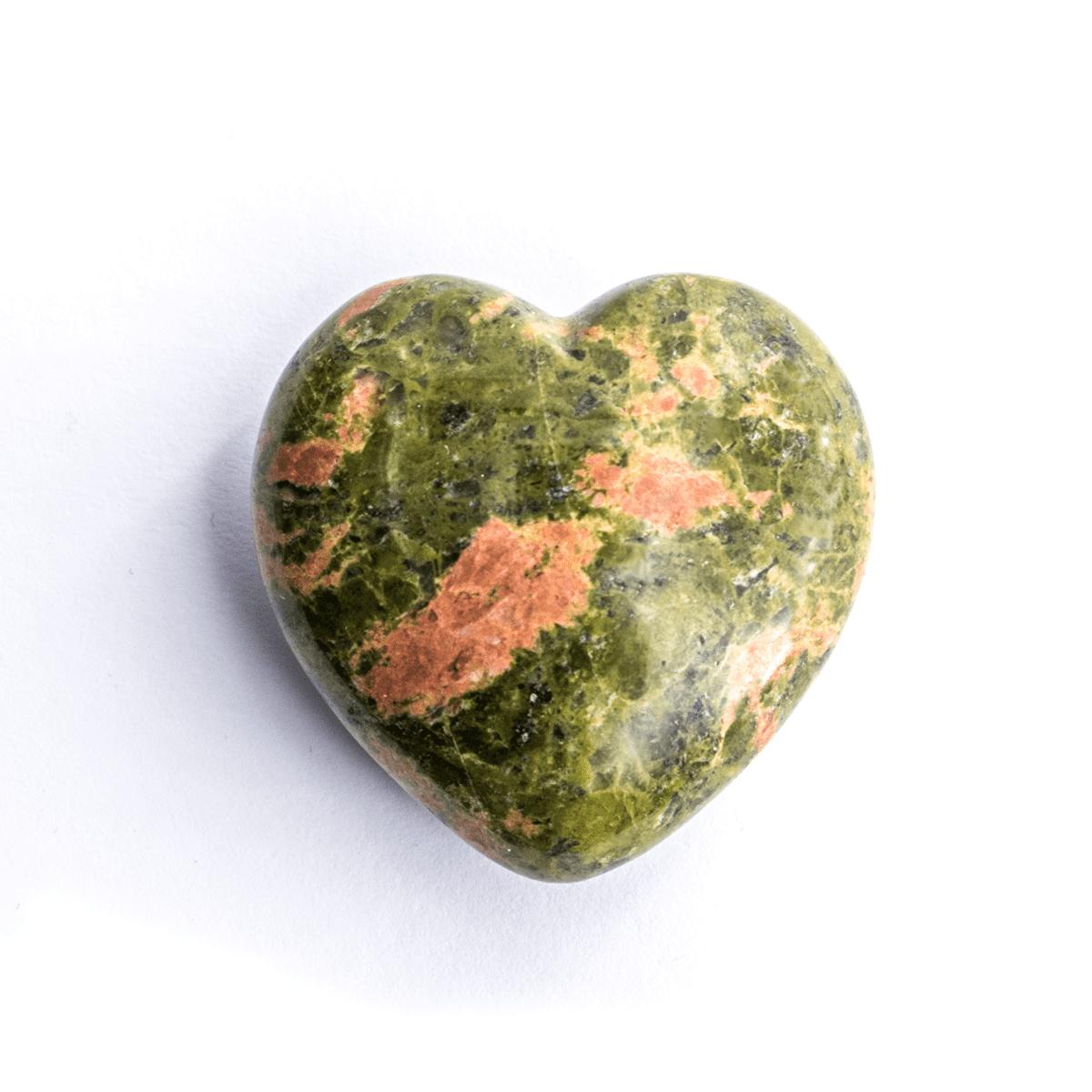 Milujeme Kameny - unakit tromlovaný kámen - srdce