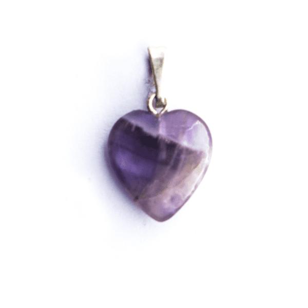 Milujeme Kameny - ametyst tromlovaný kámen - přívěsek srdce