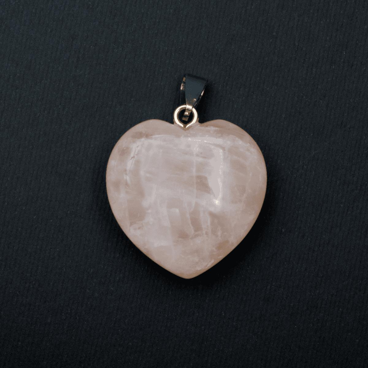 Milujeme Kameny - ruzenin tromlovaný kámen - přívěsek srdce